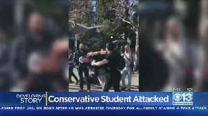 Man Pitching Conservative Views Assaulted At UC Berkeley [Video]
