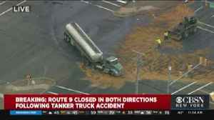 Tanker Truck Accident Shuts Down Route 9 [Video]