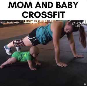 Adorable baby exercises alongside his momma doing CrossFit [Video]