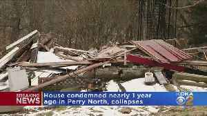 Condemned Home Collapses Due To Landslide In Perry North [Video]