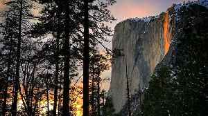 Annual 'Firefall' In Yosemite National Park [Video]