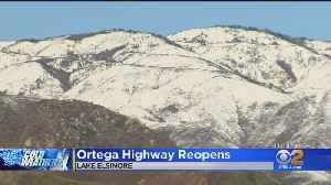 Ortega Highway Finally Reopens After Black Ice Forces 7-Hour Closure [Video]