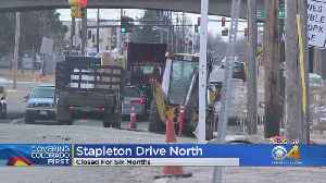 Central 70 Project: Stapleton Drive North Closed As Crews Add Express Lane To Highway [Video]