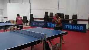 Woman Plays Intense Match of Table Tennis [Video]