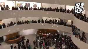 Guggenheim protesters angered by museum's OxyContin ties [Video]