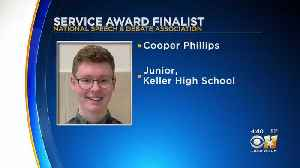 Keller High Student Up For National Award [Video]
