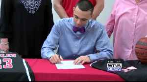 Wheeler's Jalon Beene signs with ICC basketball [Video]