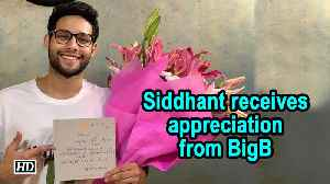 Siddhant Chaturvedi receives appreciation from BigB [Video]