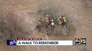 Two people trapped in Queen Creek wash rescued [Video]