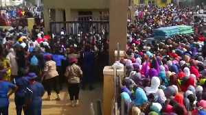Crowds rush into polling station in Abuja following early delays [Video]