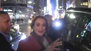 Lindsay Lohan Calls It an Early Night, Seems Super Responsible at MTV Premiere Party [Video]