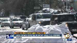 Large crowds expected in snowy areas [Video]