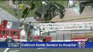Collision In Boyle Heights Sends Several People To Hospital [Video]