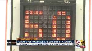 ODOT eyes adjustable speed limits statewide [Video]