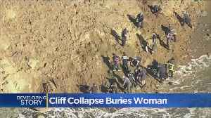 Cliff Collapse Buries Woman [Video]