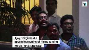 Total Dhamaal Ajay Devgn holds special screening before movie release [Video]