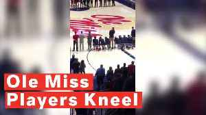 University of Mississippi basketball players kneel during national anthem to protest Confederacy rally [Video]