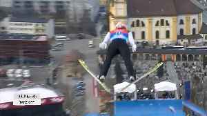 Germany destroys competition in ski-jumping [Video]