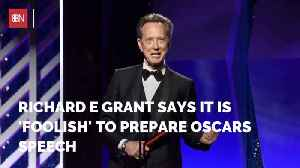 This Oscar Nominee Won't Bother Preparing An Acceptance Speech [Video]