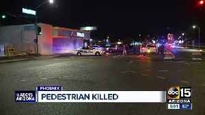 Pedestrian struck, killed in Phoenix [Video]