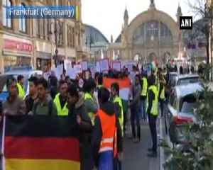 Indian community members protest against Pulwama terror attack in Frankfurt [Video]