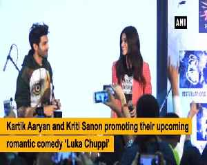 Kartik Aaryan Kriti Sanon promote their upcoming flick Lukka Chuppi [Video]