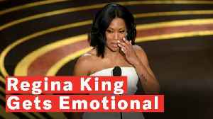 Regina King Gets Emotional While Accepting Her Academy Award For Best Supporting Actress [Video]