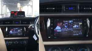 Taxi With TV In Dashboard [Video]