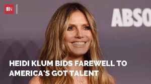 Heidi Klum Is Leaving AGT [Video]