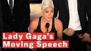 Lady Gaga Gives Tearful Oscars Acceptance Speech: 'It's About Not Giving Up' [Video]