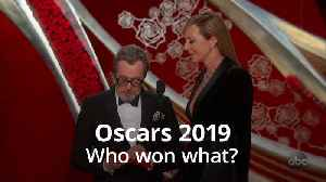 Oscars 2019: Who won the big awards of the night? [Video]