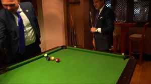 May shoots pool with Italian PM on sidelines of EU Arab League summit [Video]