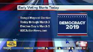 2019 Tampa Municipal Election early voting information [Video]