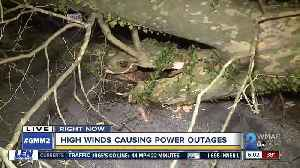 Strong, gusty winds causes power outages and toppled trees across Maryland [Video]