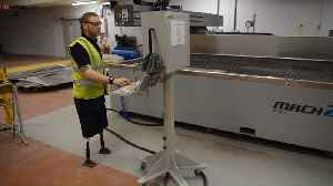 Inspirational Ex-Serviceman Who Lost Three Limbs In Bomb Blast Works In Factory For Veterans [Video]