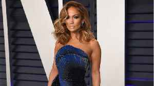Jennifer Lopez's Sparkly Oscars After-Party Dress Looked Like It Had An Elaborate Built-In Fan [Video]