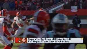 What was Baker Mayfield's defining moment of 2018? [Video]