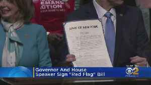 Gov. Cuomo, Speaker Pelosi Sign 'Red Flag' Bill [Video]