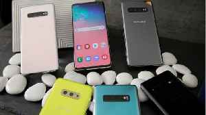 Samsung Releases New Line Of Galaxy S10 Smartphones [Video]