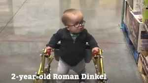 Toddler with Spina Bifida Takes First Steps On His Own [Video]