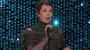 Oscars 2019: Olivia Colman Wins Best Actress For 'The Favourite' [Video]