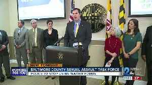 County Executive forms Sexual Assault Investigations Task Force [Video]
