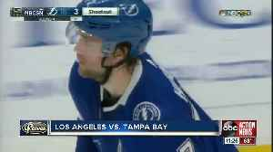 Tampa Bay Lightning win 9th straight game, beat Los Angeles Kings 4-3 in shootout [Video]