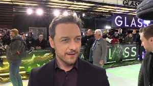 James McAvoy made a mess of his white shirt with Oscars autograph collection [Video]