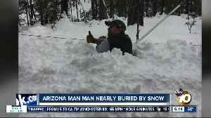 Arizona man survives after being buried by snow [Video]