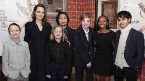 Angelina Jolie Just Made a Rare Public Appearance with All Six of Her and Brad Pitt's Children [Video]
