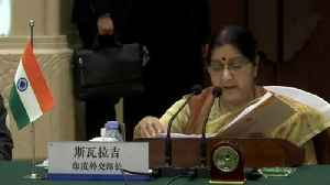 'India doesn't wish to see further escalation': Sushma Swaraj in China | Oneindia News [Video]