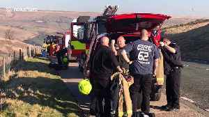 Fire crews attend scorched earth near Saddleworth Moor [Video]