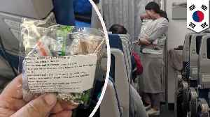 Korean mom gives out 200 crying baby goodie bags on 10-hr flight [Video]