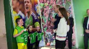 Will and Kate received football shirts for young royals [Video]